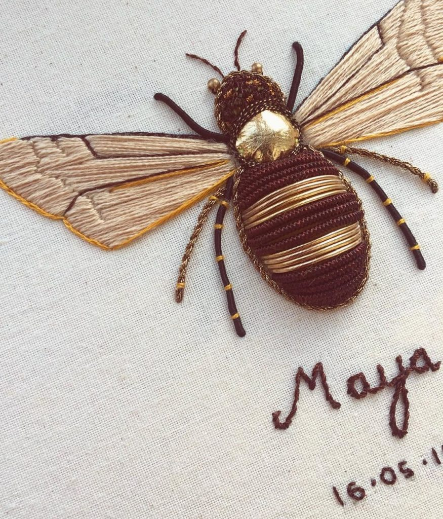 Incredible Insect Embroideries Take Needlepointing to New Levels 1 875x1024 This Artist Creates Beautiful Intricate Embroideries of Insects
