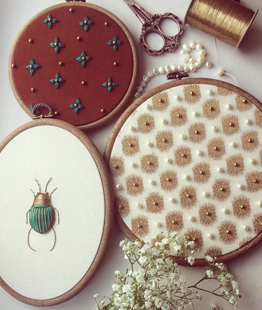 Incredible Insect Embroideries Take Needlepointing to New Levels 866x1024 This Artist Creates Beautiful Intricate Embroideries of Insects