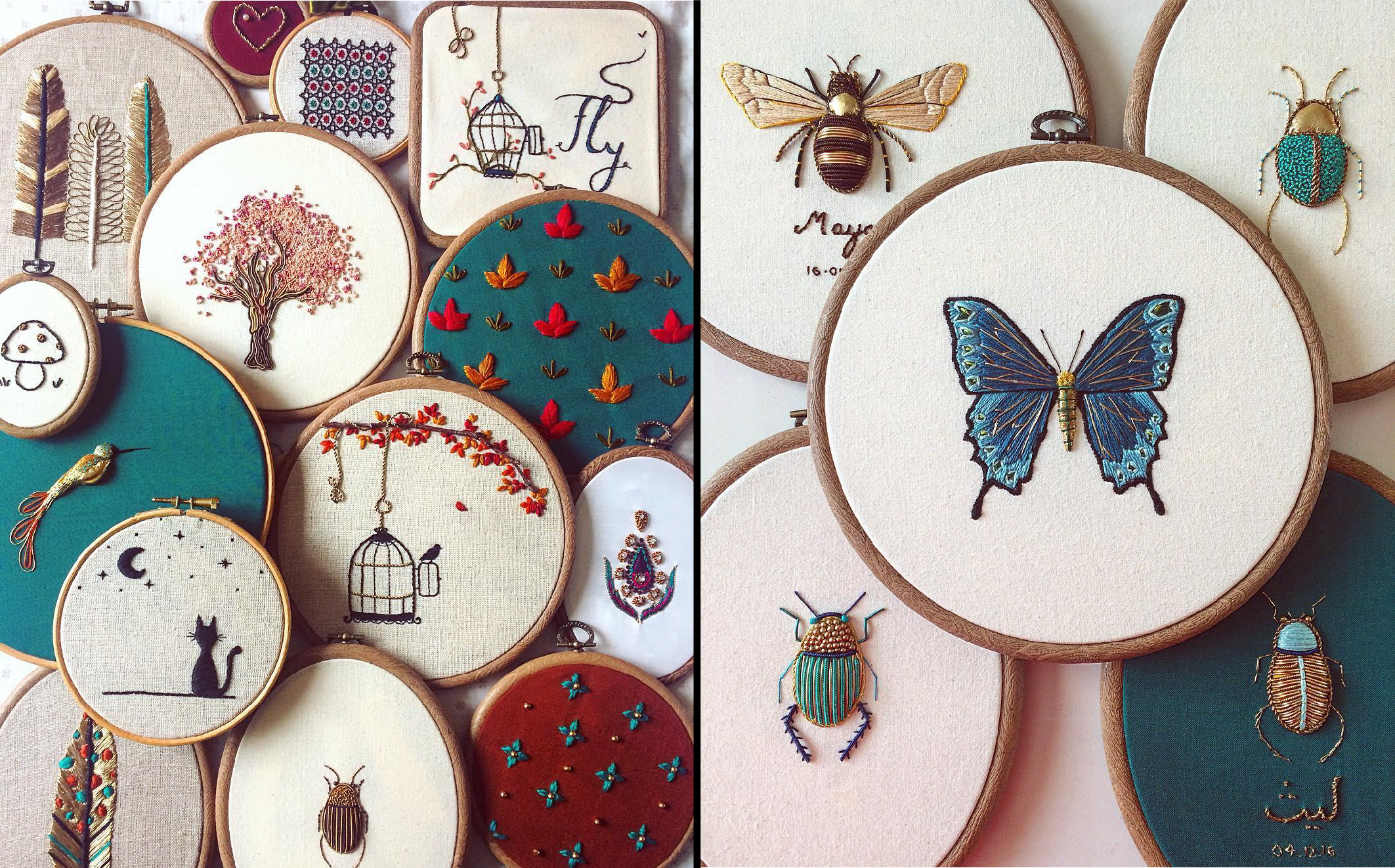 Incredible Intricate Embroideries of Insects 14