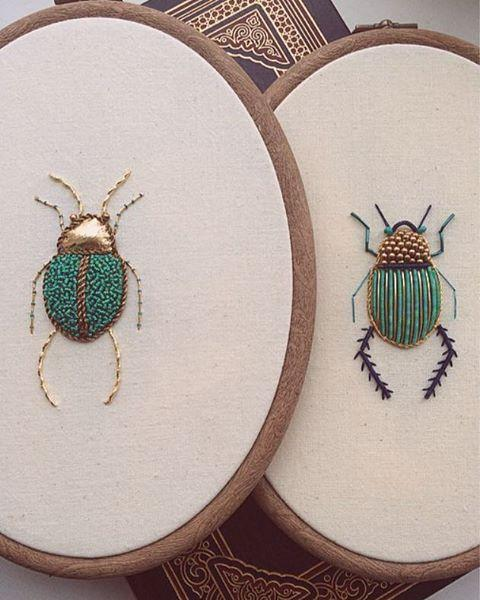 Incredible Intricate Embroideries of Insects This Artist Creates Beautiful Intricate Embroideries of Insects