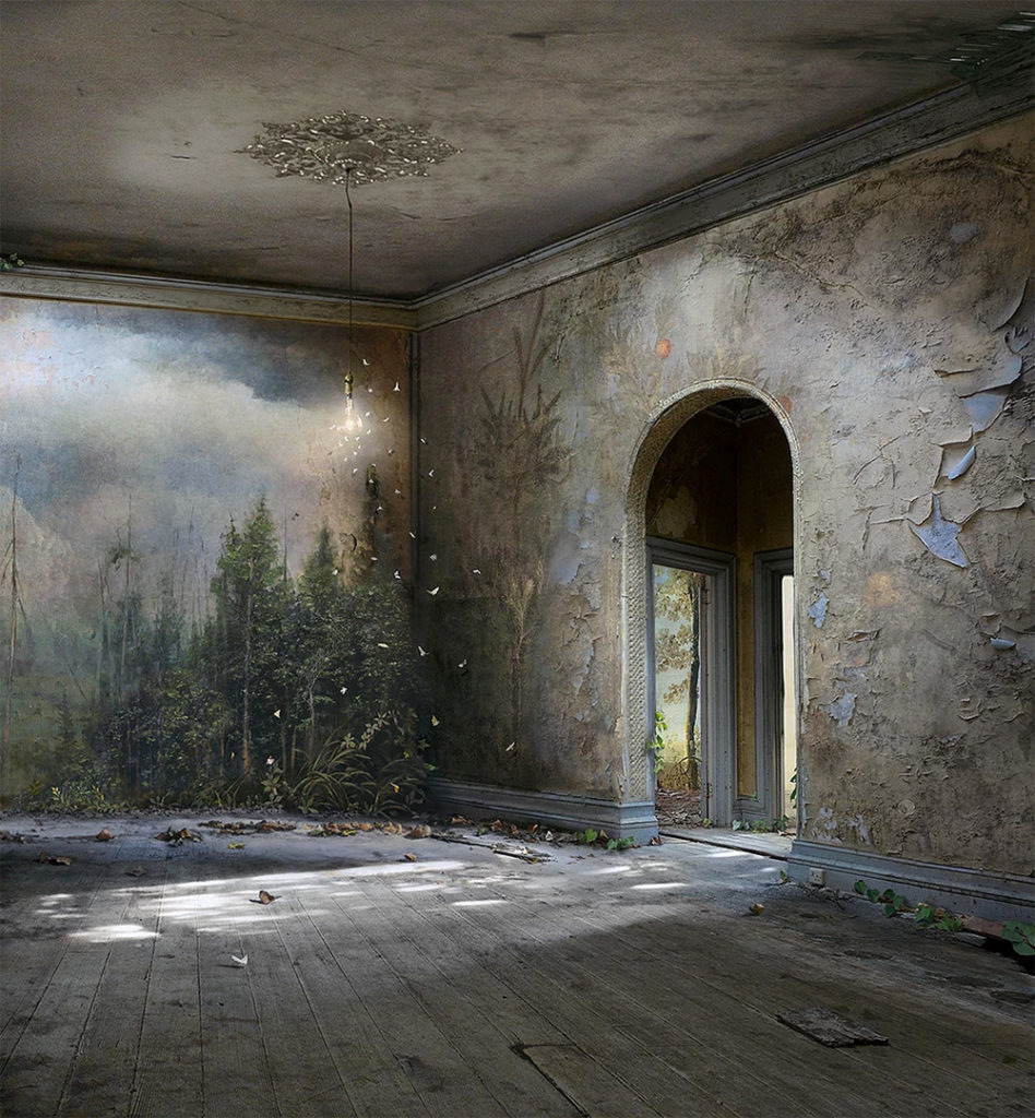 Photomontages by Suzanne Moxhay 77 948x1024 Photomontages That Trace Light Through Overgrown Countrysides and Abandoned Interiors