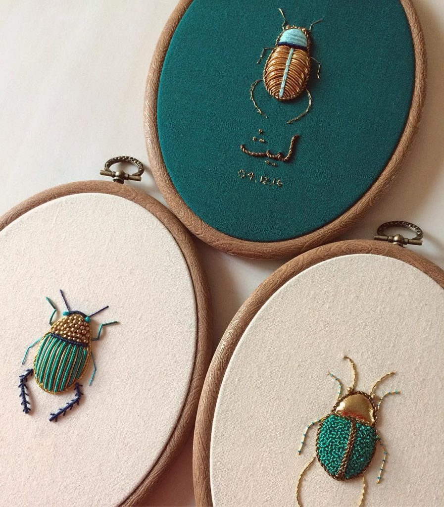 Stunning Intricate Embroideries of Insects 77 897x1024 This Artist Creates Beautiful Intricate Embroideries of Insects