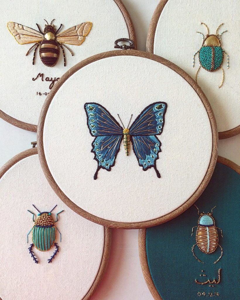 Stunning Intricate Embroideries of Insects 820x1024 This Artist Creates Beautiful Intricate Embroideries of Insects