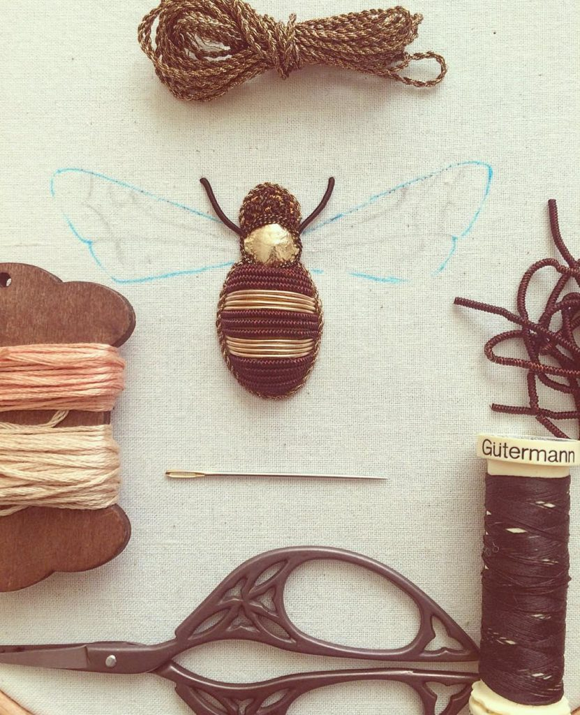 Wonderful Intricate Embroideries of Insects 831x1024 This Artist Creates Beautiful Intricate Embroideries of Insects