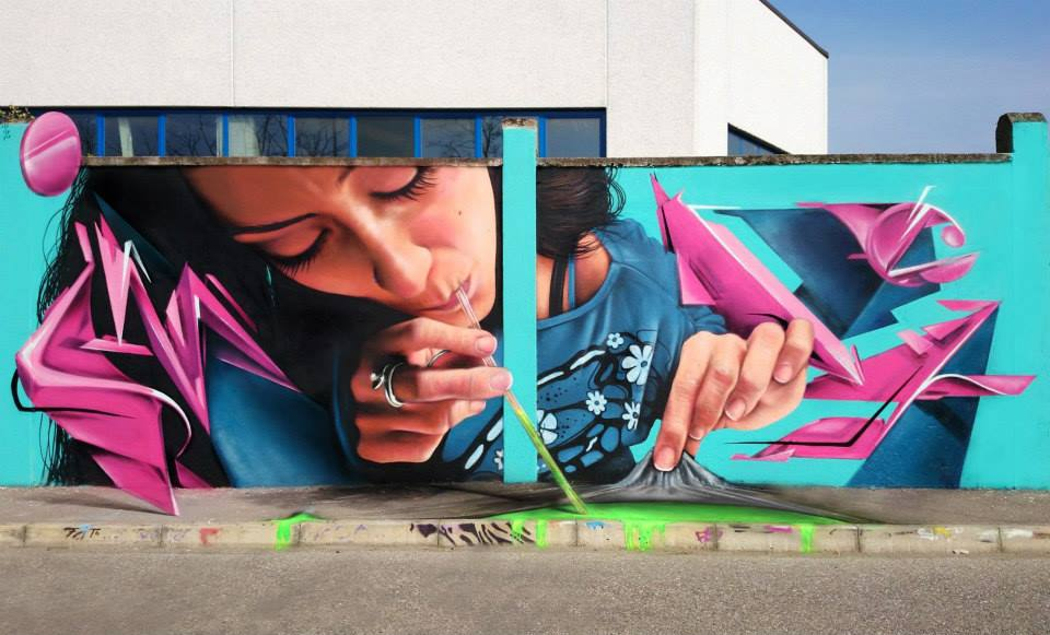 Wonderful Street Art By Caiffa Cosimo Brilliant And Interactive Street Art By Caiffa Cosimo