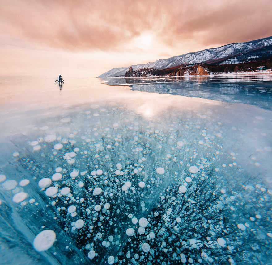 Beauty Frozen Lake by Kristina Makeeva Frozen Lakes : The World's Oldest and Deepest Lake by Kristina Makeeva