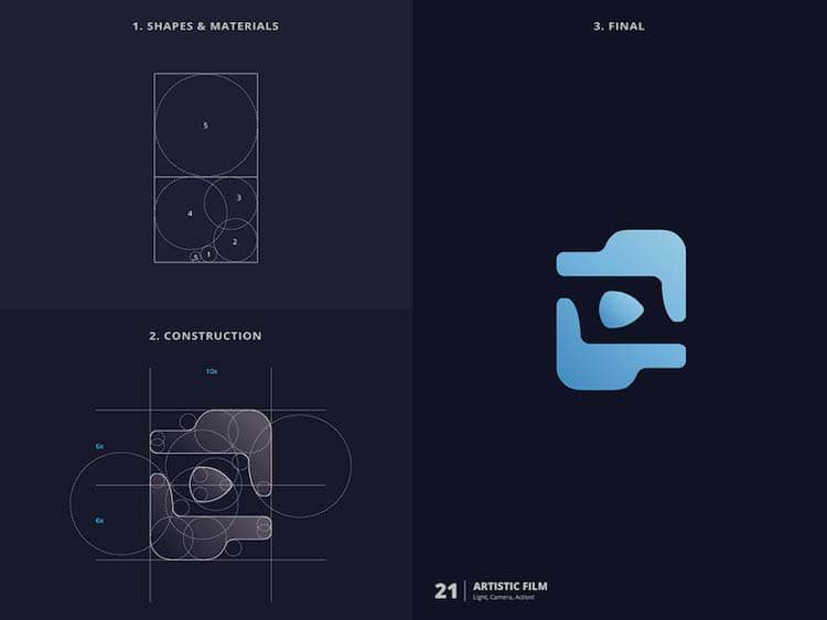 Brilliant Logo Design With Golden Ratio 77 Creative Logo Design With Golden Ratio by Kazi Mohammed Erfan