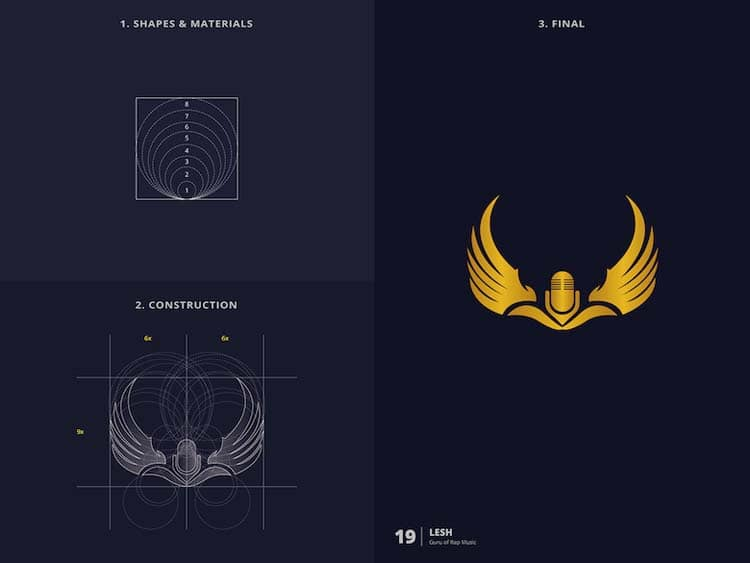 Brilliant Logo Design With Golden Ratio 99 Creative Logo Design With Golden Ratio by Kazi Mohammed Erfan
