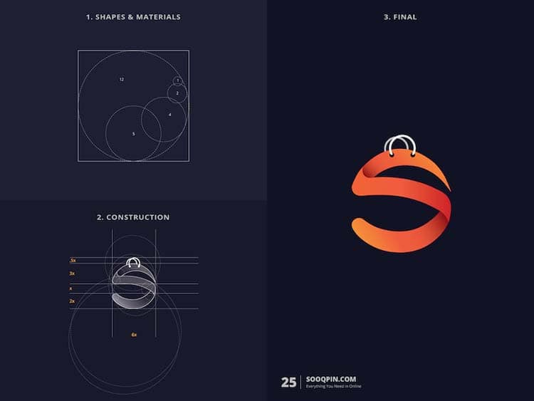 Creative Logo Design With Golden Ratio by Kazi Mohammed Erfan Creative Logo Design With Golden Ratio by Kazi Mohammed Erfan