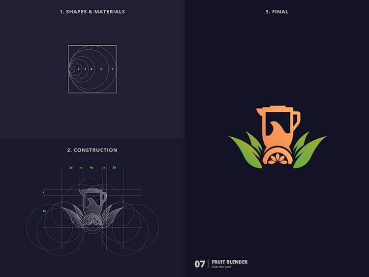 Elegant Logo Design With Golden Ratio Creative Logo Design With Golden Ratio by Kazi Mohammed Erfan