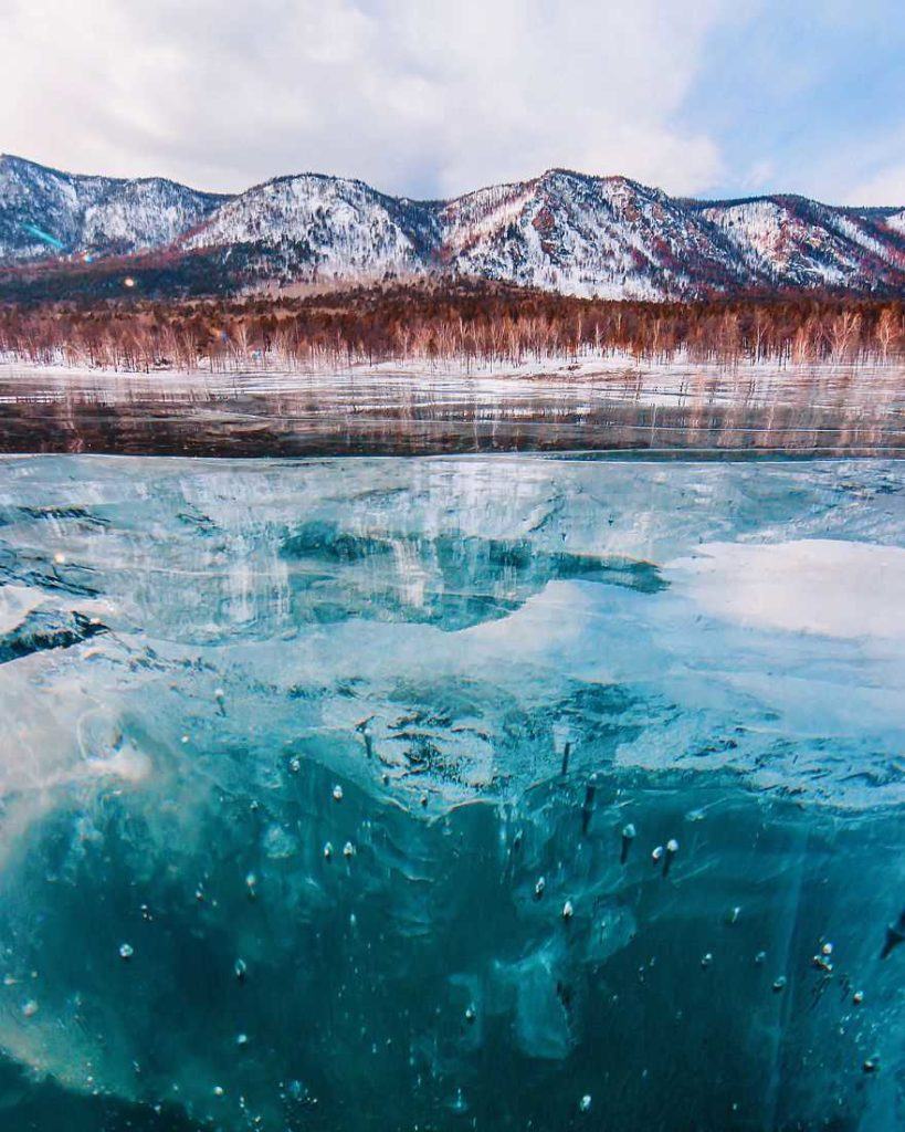 Frozen Lake by Kristina Makeeva 99 819x1024 Frozen Lakes : The World's Oldest and Deepest Lake by Kristina Makeeva