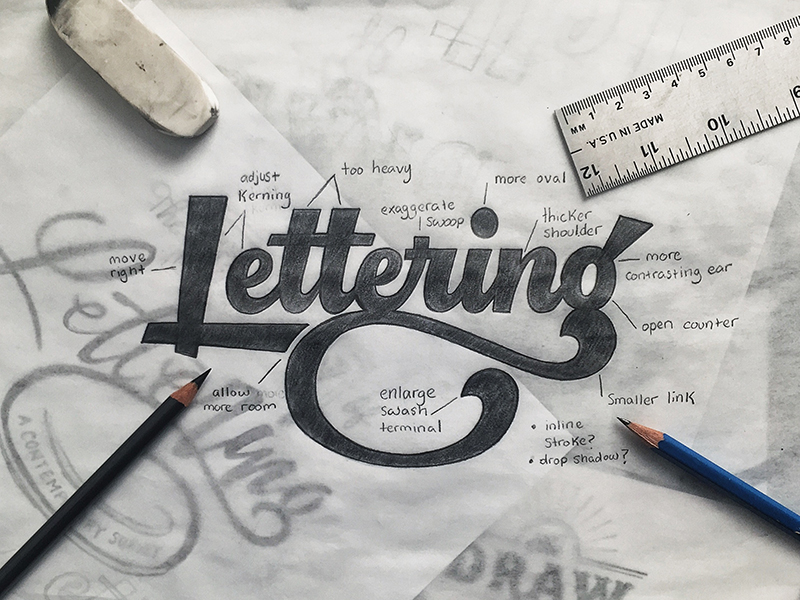 How to Make Beauty Hand Lettering Hand Lettering Inspiration by Colin Tierney