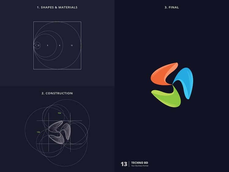 Stunning Logo Design With Golden Ratio 99 Creative Logo Design With Golden Ratio by Kazi Mohammed Erfan