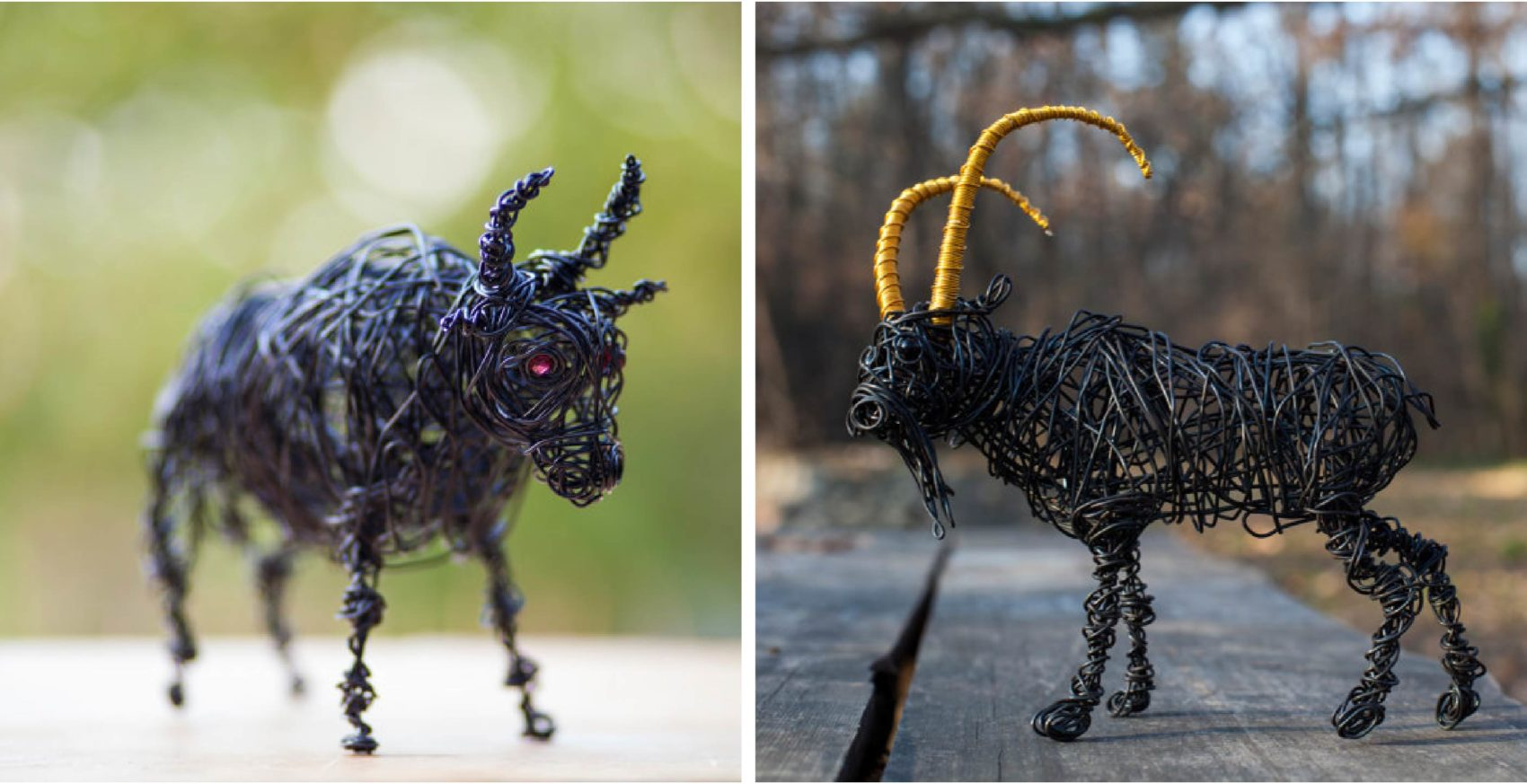 Creative Sculptures Made of Wires by Nir Vena