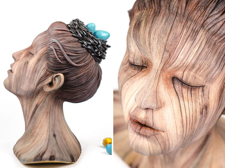 'Wood' Sculptures that are Actually Made of Ceramic 'Wood' Sculptures that are Actually Made of Ceramic