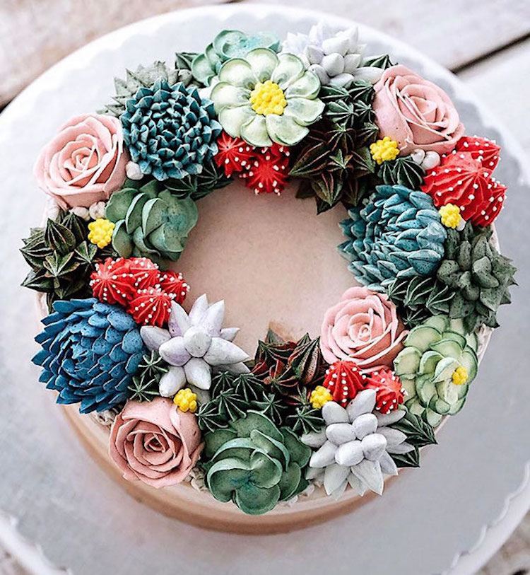 Amazing Terrarium and Flower Cakes Created by Iven Kawi Delicious and Amazing Terrarium and Flower Cakes Created by Iven Kawi