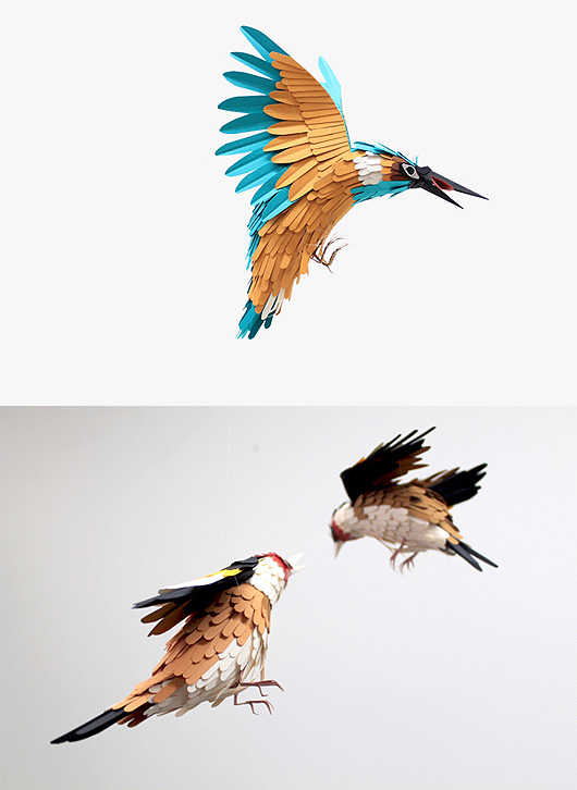 Colourful Paper Bird Sculptures by Diana Beltran Herrera 1 Colourful Paper Bird Sculptures by Diana Beltran Herrera