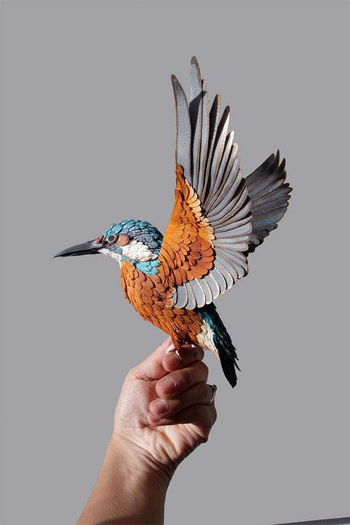 Colourful Paper Bird Sculptures by Diana Beltran Herrera 11 683x1024 Colourful Paper Bird Sculptures by Diana Beltran Herrera