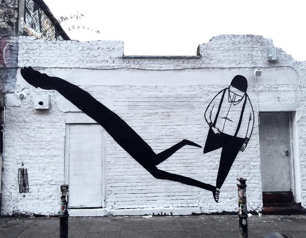 Creative Black and White Street Art by Alex Senna 2 Creative Black and White Street Art by Alex Senna