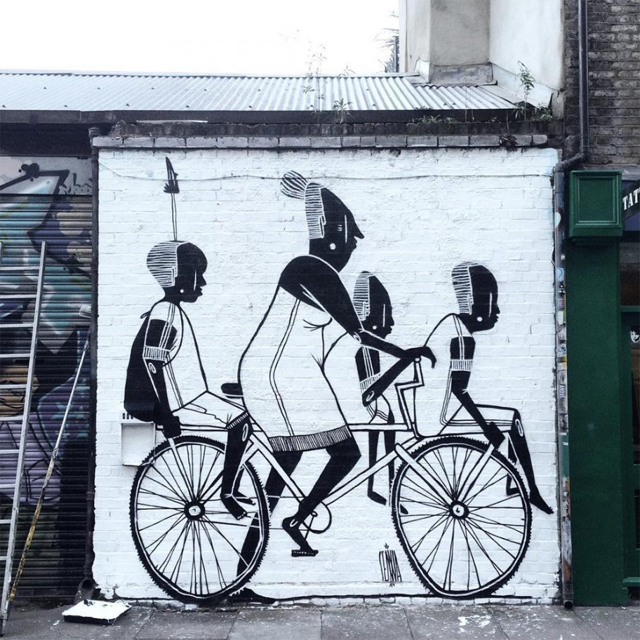 Creative Black and White Street Art by Alex Senna 3 Creative Black and White Street Art by Alex Senna