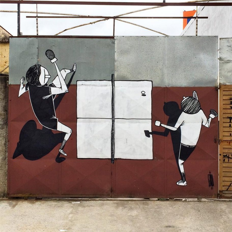 Creative Black and White Street Art by Alex Senna 4 Creative Black and White Street Art by Alex Senna