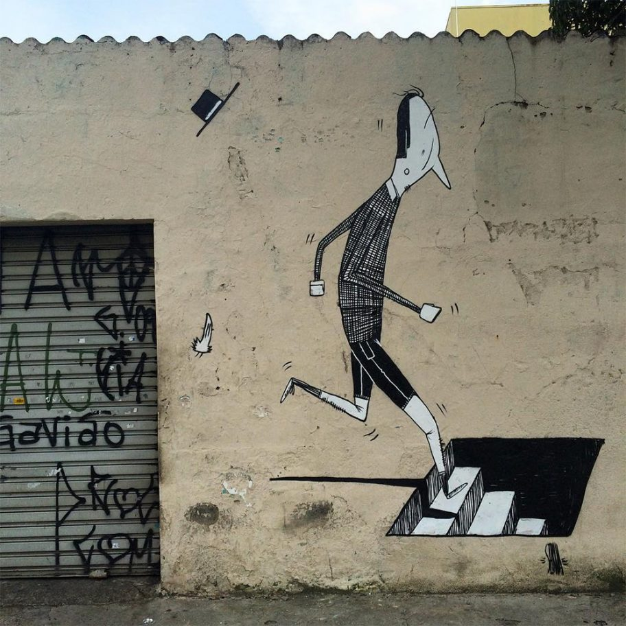 Creative Black and White Street Art by Alex Senna 5 Creative Black and White Street Art by Alex Senna