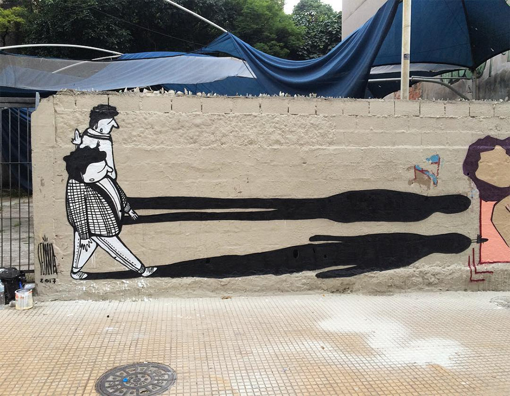 Creative Black and White Street Art by Alex Senna 6 Creative Black and White Street Art by Alex Senna