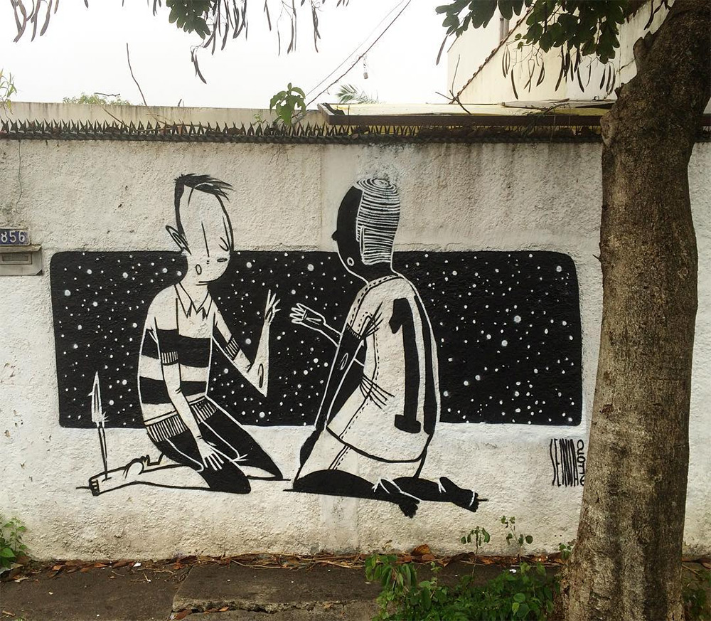 Creative Black and White Street Art by Alex Senna 7 Creative Black and White Street Art by Alex Senna