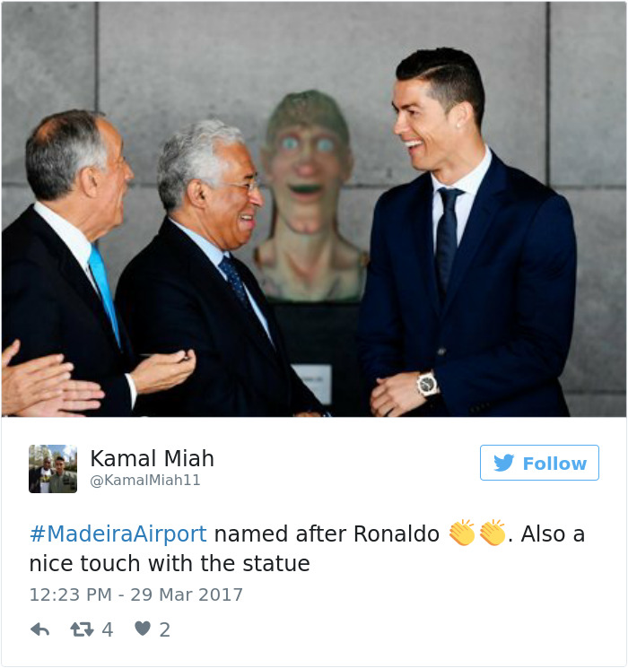 Cristiano Ronaldo Statue Fail Photoshop Battle 16 10+ Of The Funniest Reactions To Cristiano Ronaldo's New Statue