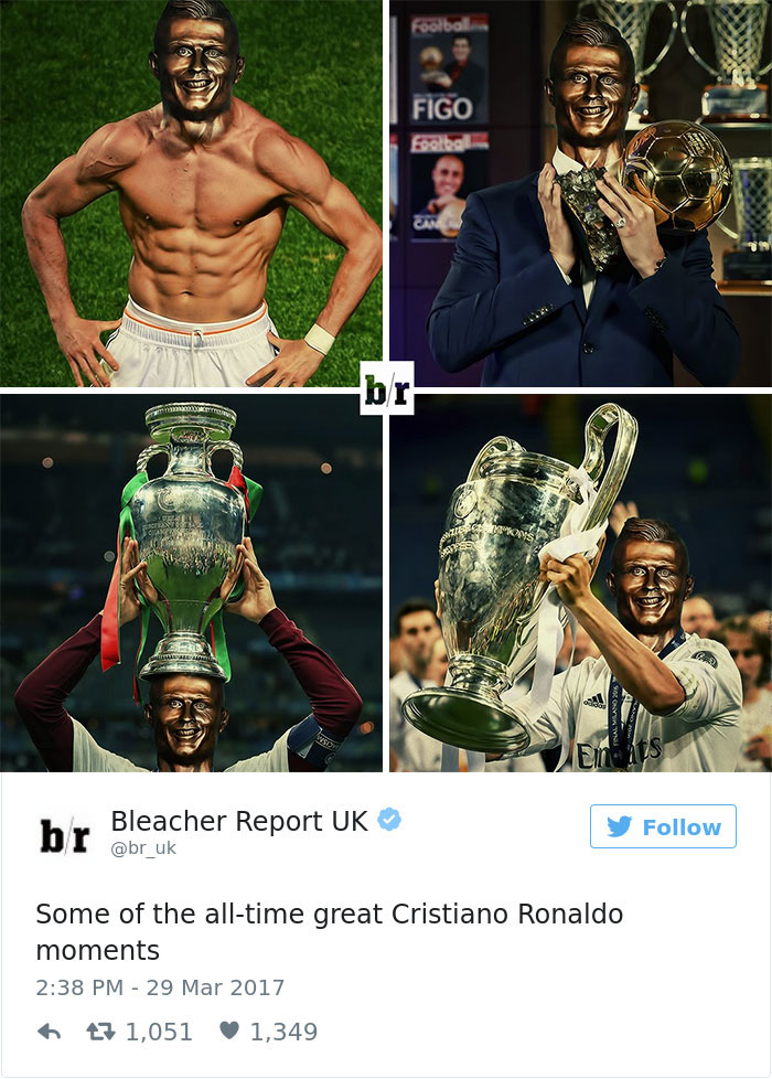 Cristiano Ronaldo Statue Fail Photoshop Battle 18 10+ Of The Funniest Reactions To Cristiano Ronaldo's New Statue