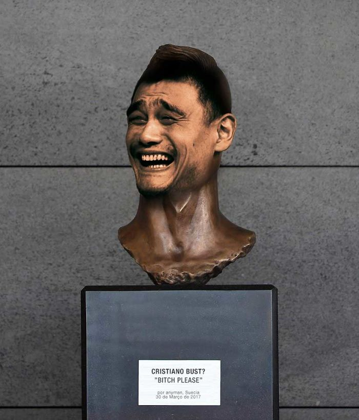 Cristiano Ronaldo Statue Fail Photoshop Battle 19 10+ Of The Funniest Reactions To Cristiano Ronaldo's New Statue