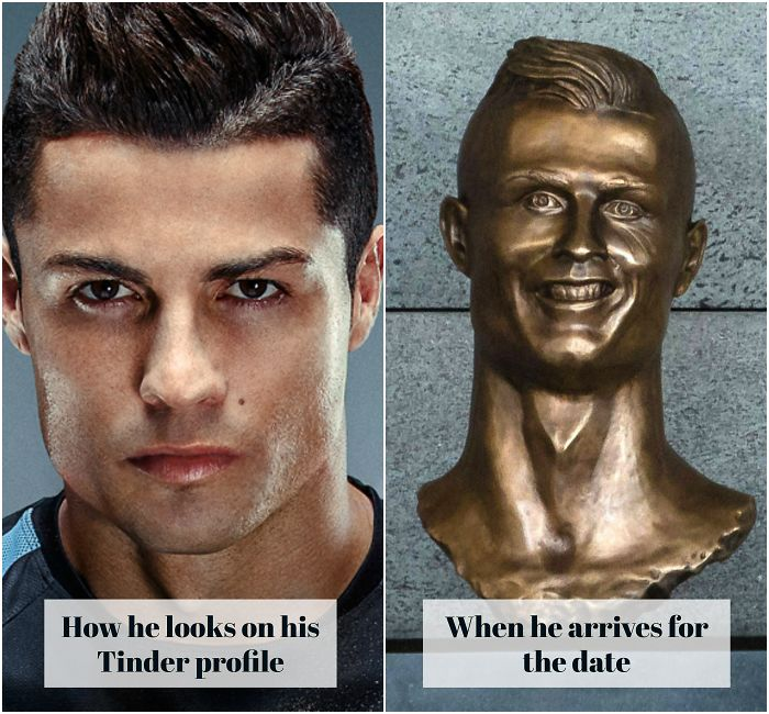 Cristiano Ronaldo Statue Fail Photoshop Battle 21 10+ Of The Funniest Reactions To Cristiano Ronaldo's New Statue