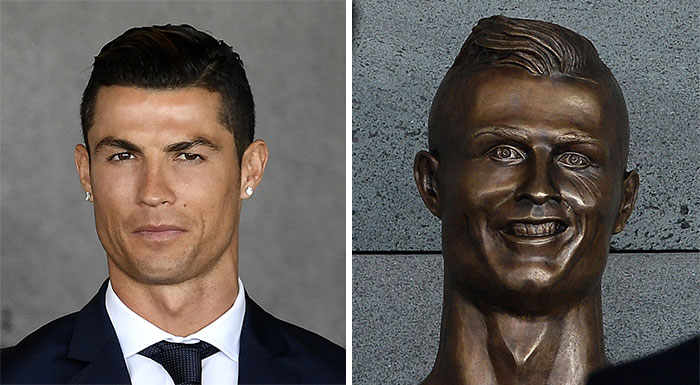 Cristiano Ronaldo Statue Fail Photoshop Battle 5 10+ Of The Funniest Reactions To Cristiano Ronaldo's New Statue