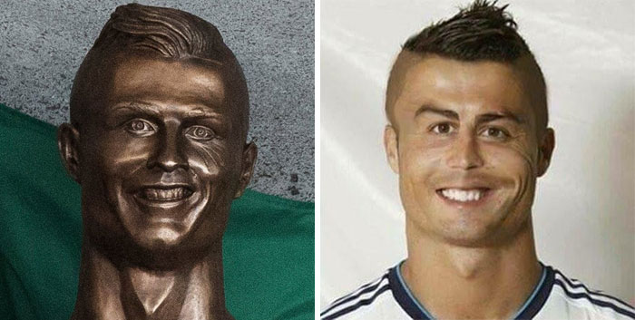 Cristiano Ronaldo Statue Fail Photoshop Battle 7 10+ Of The Funniest Reactions To Cristiano Ronaldo's New Statue