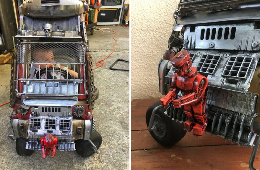 "Dad Turns Kids' Toy Cars Into Badass ""Mad Max"" 2 Dad Turns Kids' Toy Cars Into Badass ""Mad Max"" Vehicles : Fury Road Vehicles"