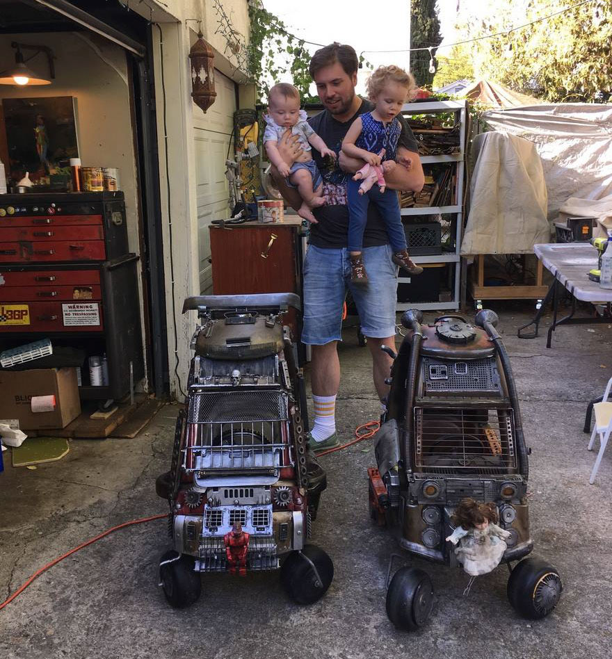 "Dad Turns Kids' Toy Cars Into Badass ""Mad Max"" 6 Dad Turns Kids' Toy Cars Into Badass ""Mad Max"" Vehicles : Fury Road Vehicles"