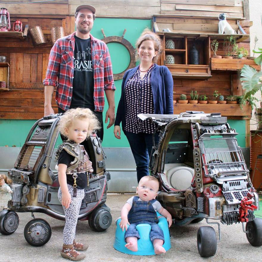 "Dad Turns Kids' Toy Cars Into Badass ""Mad Max"" 9 Dad Turns Kids' Toy Cars Into Badass ""Mad Max"" Vehicles : Fury Road Vehicles"
