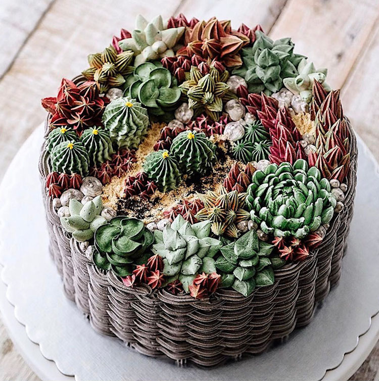 Delicious Flower Cakes Created by Iven Kawi 3 Delicious and Amazing Terrarium and Flower Cakes Created by Iven Kawi