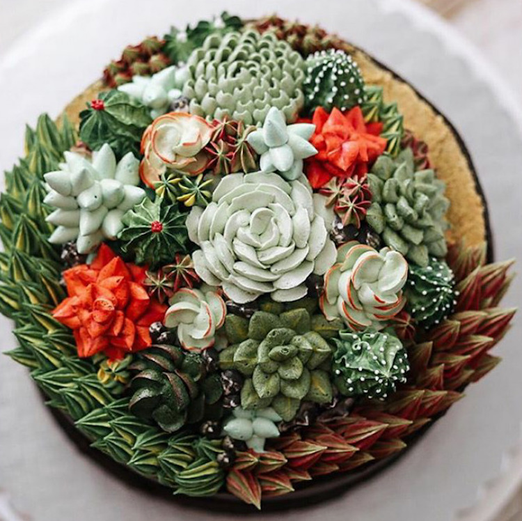 Delicious Flower Cakes Created by Iven Kawi 4 Delicious and Amazing Terrarium and Flower Cakes Created by Iven Kawi