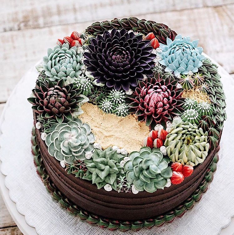 Delicious Ivenoven Succulent Cakes 2 Delicious and Amazing Terrarium and Flower Cakes Created by Iven Kawi