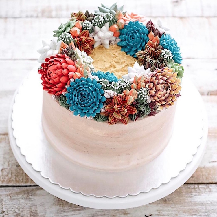Delicious Ivenoven Succulent Cakes 3 Delicious and Amazing Terrarium and Flower Cakes Created by Iven Kawi