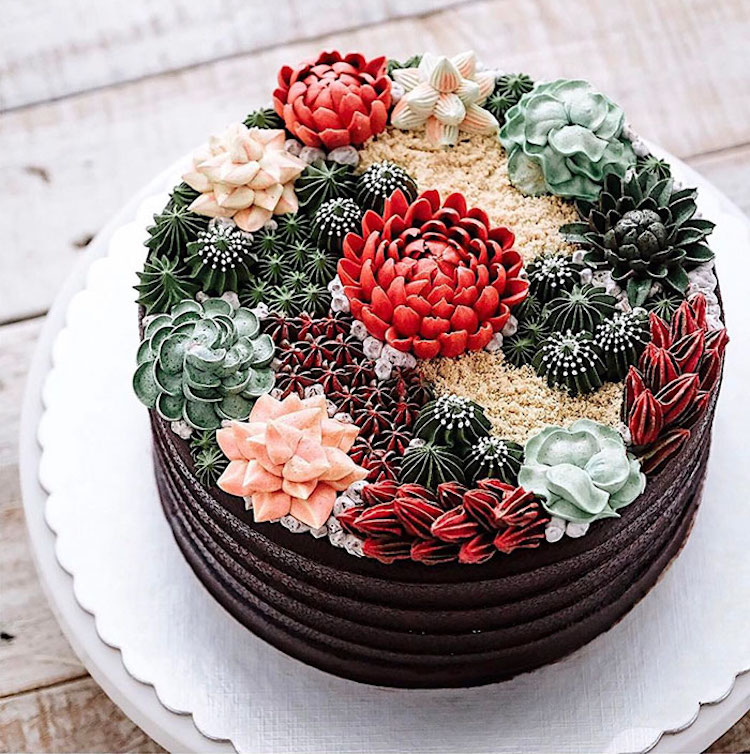 Delicious Ivenoven Succulent Cakes Delicious and Amazing Terrarium and Flower Cakes Created by Iven Kawi