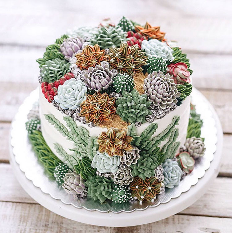 Delicious Terrarium and Flower Cakes Created by Iven Kawi Delicious and Amazing Terrarium and Flower Cakes Created by Iven Kawi