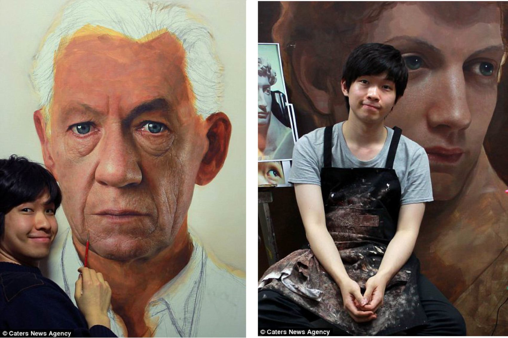Giant Hyperrealistic Portrait Paintings By Joongwon Jeong 11