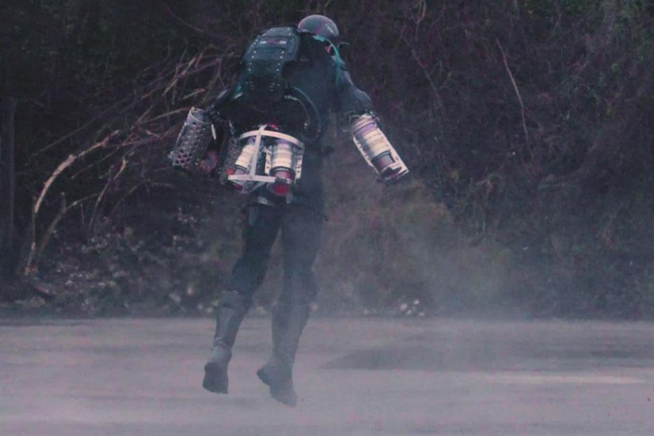 man builds iron man costume with reallife flying