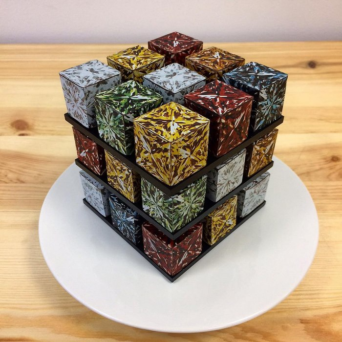Rubiks Cube Cake Pastry Cedric Grolet 1 Rubik's Cakes Are A Thing And They're Too Pretty To Eat
