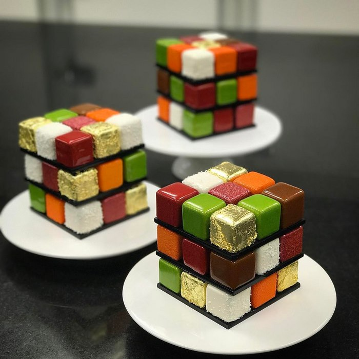 Rubiks Cube Cake Pastry Cedric Grolet 3 Rubik's Cakes Are A Thing And They're Too Pretty To Eat