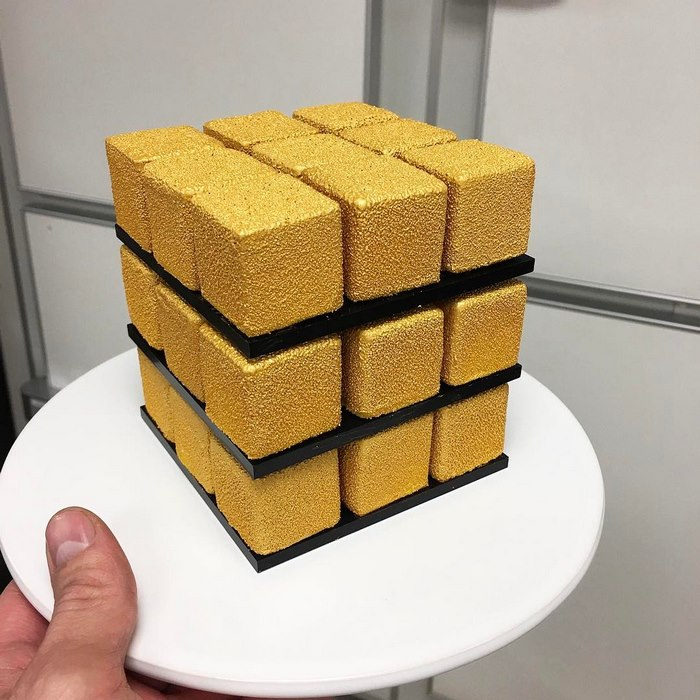 Rubiks Cube Cake Pastry Cedric Grolet 5 Rubik's Cakes Are A Thing And They're Too Pretty To Eat