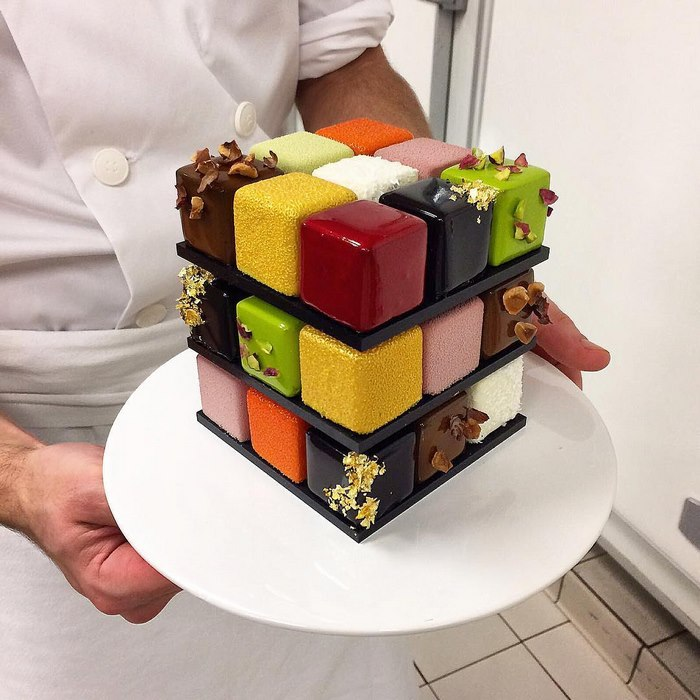 Rubiks Cube Cake Pastry Cedric Grolet Rubik's Cakes Are A Thing And They're Too Pretty To Eat