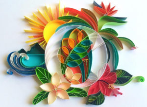 Typographic Paper Artworks with Quilling Technique by Sabeena Karnik
